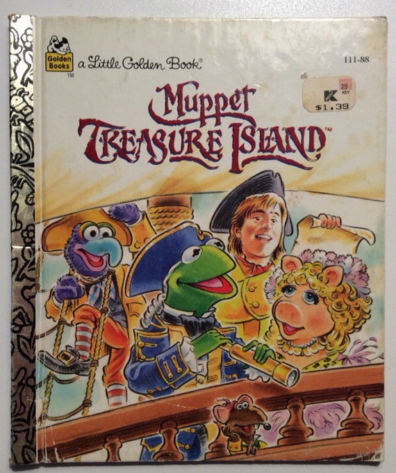 241 Best Muppet Greatness Images On Pinterest: Muppet Treasure Island Vintage Little Golden Book By