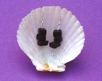 Obsidian Earrings, Gemstone earrings, Sterling Silver earrings, Hypoallergenic earrings, Zodiac Jewellery Sagittarius, Black earrings