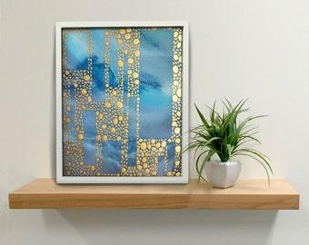 Abstract Painting, Wall Art Decor, Golden Circle Windows - 101, Original, Landscape, Modern Art, Molly Ferguson