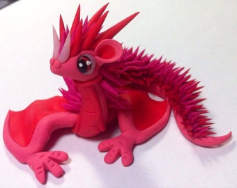Pink spiky dragon