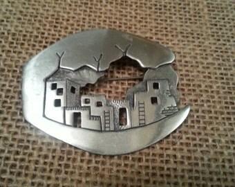 Silver Southwest Dwelling Pin