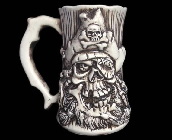 Pirate Skull Beer Mug Pirate Beer Stein