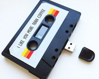 4GB/8GB/16GB USB Mixtape - Retro Personalised Gift - Xmas Present, Birthday, Funny, Christmas , Boyfriend, Girlfriend, Friend- Flash Drive