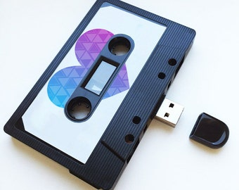 4GB/8GB/16GB USB Mixtape - Retro Personalised Gift -  Music Lover, Loved One, Birthday Present- Boyfriend, Girlfriend, Bestfriend