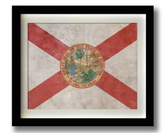 "Florida State Flag Print - 11x14"""