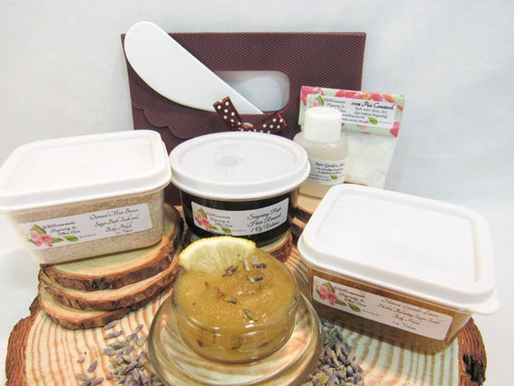 Natural Lavender Lemon Scrub Sugaring Paste Deluxe Starter Kit