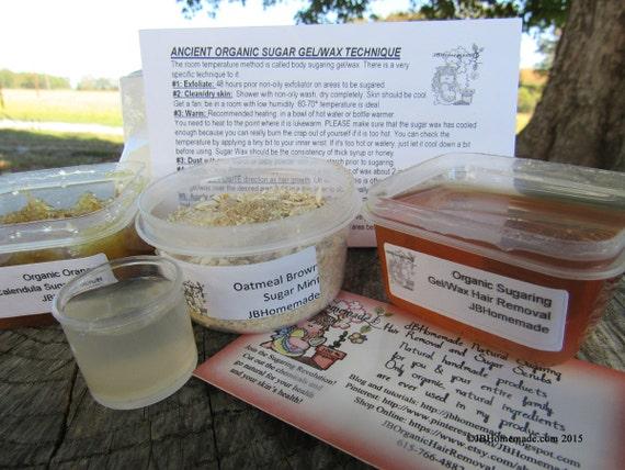 Natural Orange Calendula Scrub Sugaring Wax Deluxe Starter Kit