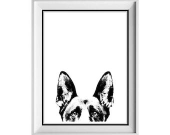 German Shepherd Art Etsy