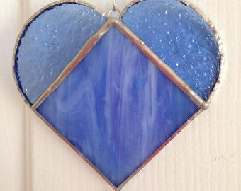 I Heart You - Blue Suncatcher