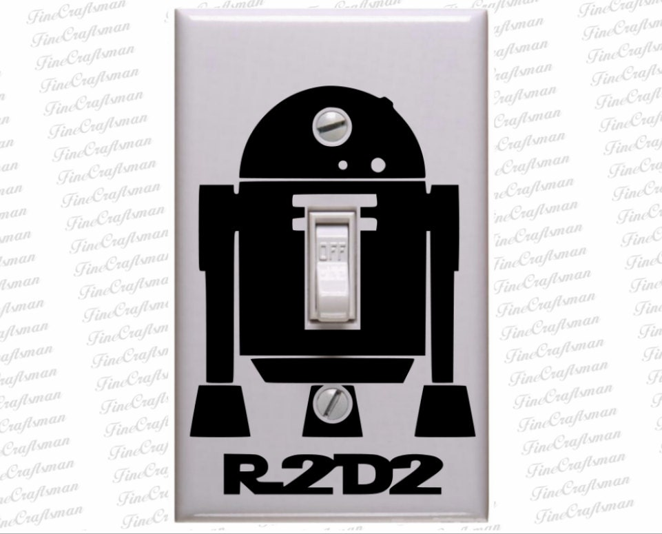 R2d2 Droid Decal Star Wars Decals Star Wars Light Switch