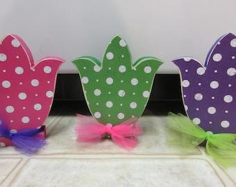 Spring Decor-Easter Decor-Polka Dot Spring Flowers