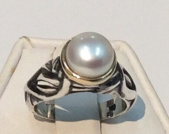 White pearl Three ring