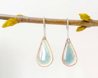 Turquoise raindrop earrings
