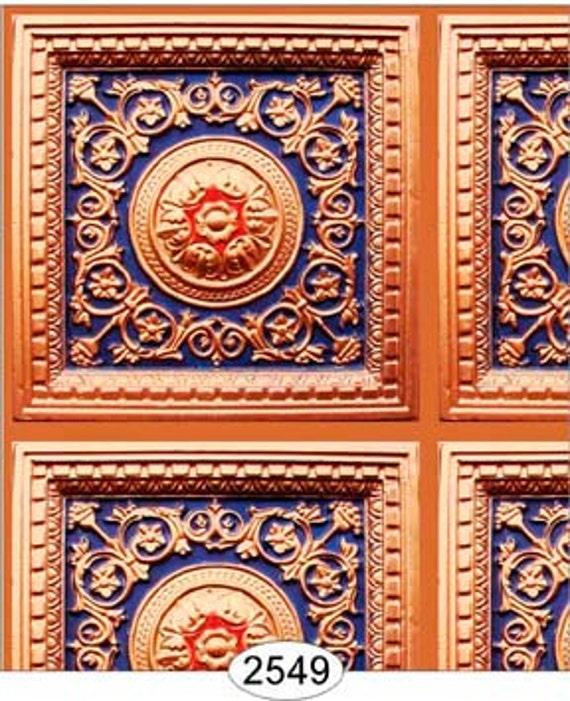6 SHEETS Dollhouse Miniature Wallpaper Ceiling Wall Panel
