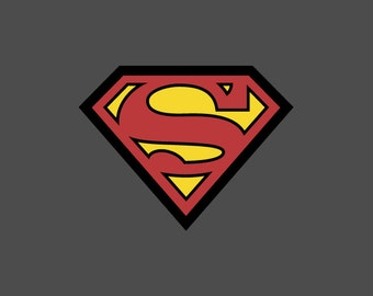 Full Color Superman Die Cut Decal/Sticker
