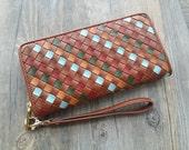 Woman leather wallet,Genuine Women Leather Wallets,Womens purses, Woman Leather purse,leather wallet woman,clutch wallet