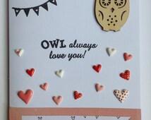 Owl Always Love You Card - I Will Always Love You Card - Love Card - Romantic Card - Anniversary Card