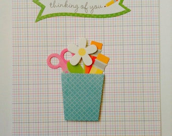 Thinking of You Card-Get Well Card-Sympathy Card-Thinking of You-Handmade Greeting Card