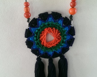 colorful dreamcatcher pendant