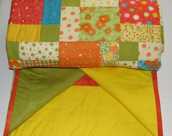Hand Quilted, machine stitched home made Quilt.
