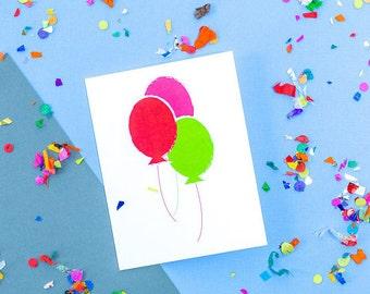 SALE!! Balloons Birthday Card