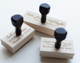 Custom Calligraphy Address Stamp| Wedding Invitation Rubber Stamp| Calligraphy Rubber Stamper | Wedding Stamp