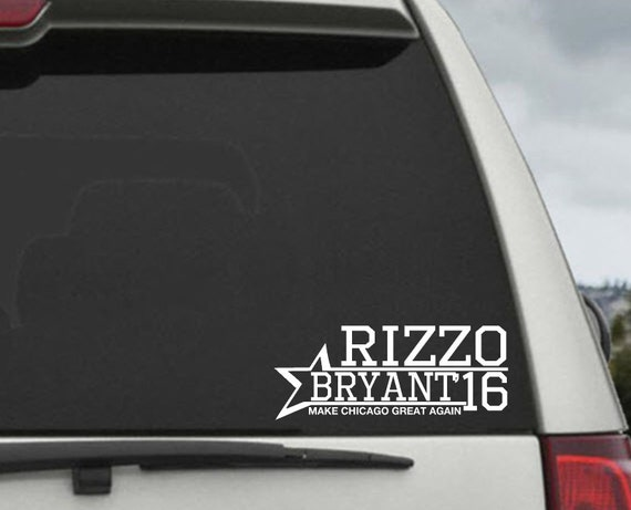 Chicago Cubs Anthony Rizzo / Kris Bryant 2016 Campaign Baseball Decal - Car Window Decal Sticker
