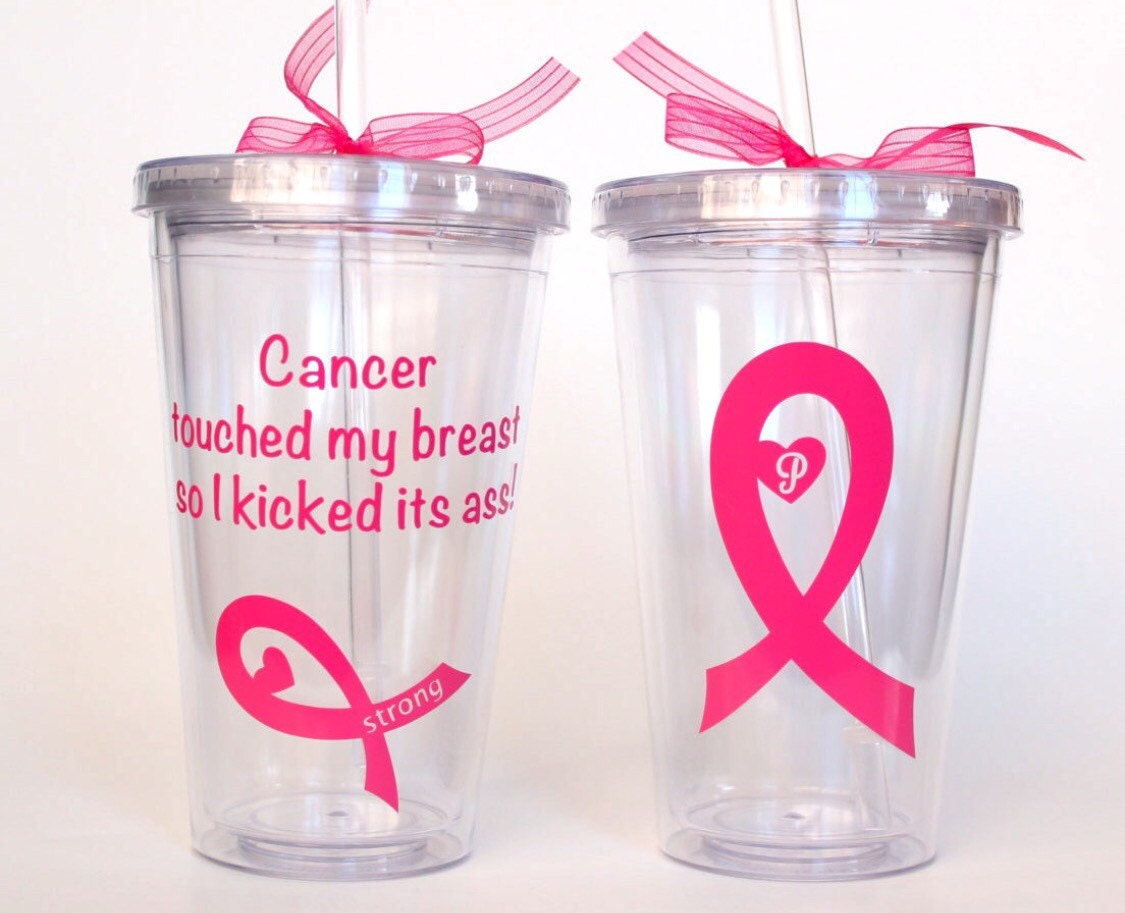 Breast cancer ornament - Breast Cancer Survivor Cancer Touched My Breast Kick Cancer