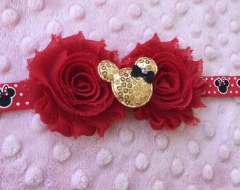 Minnie inspired Rosette Headband