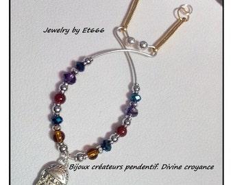 Creative jewels pendant. Divine faith