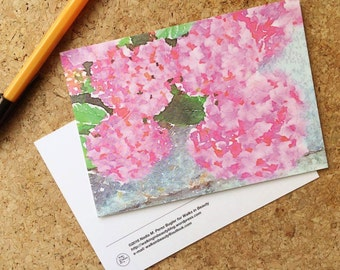 Art Postcard Hydrangeas