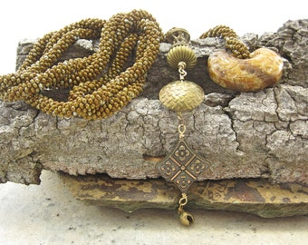 Crochet Lariat Necklace, Crochet Belt, Beaded Belt Long Lariat Neclace