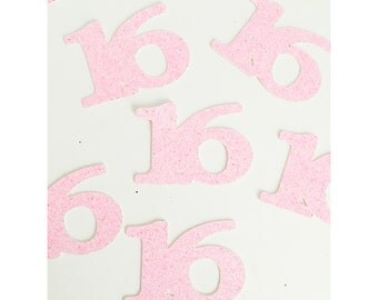 ANY AGE! Birthday confetti, age confetti, glitter confetti, number party decorations, sweet 16, 50th, 40th, 30th birthday-  25 pieces