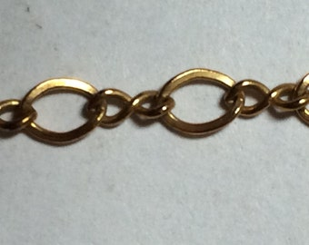 14 / 20 Gold Filled Chain, 4 mm link figure 8 chain, by the foot (one foot equals 30.48 cm) SS0643