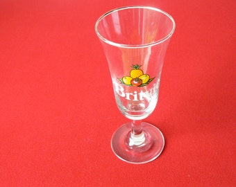 Cute Kitsch Britvic Fruit Juice Glass - Very Retro!