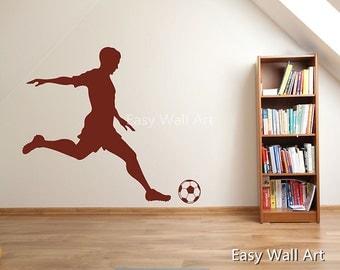 Football Player Wall Decal, Football Player Wall Decal for Bedroom, Office & Football Player Wall Decal Football Player Wall Art Decal #S15