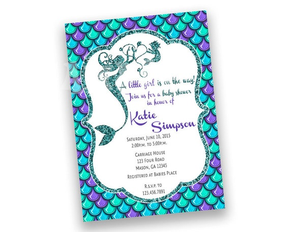 Baby Shower Invitations Under The Sea as adorable invitations layout