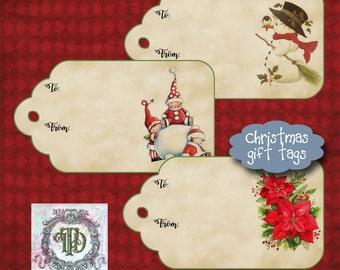 6 Christmas Gift Tags
