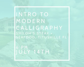 Intro to Modern Calligraphy July 14th