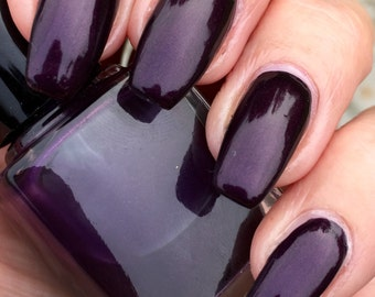 Before Dawn - deep plum shimmer nail polish