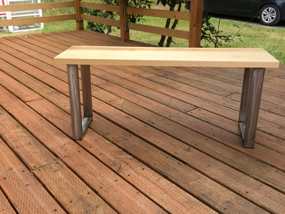 Maple bench hardwood bench industrial bench entry bench like this item sciox Image collections