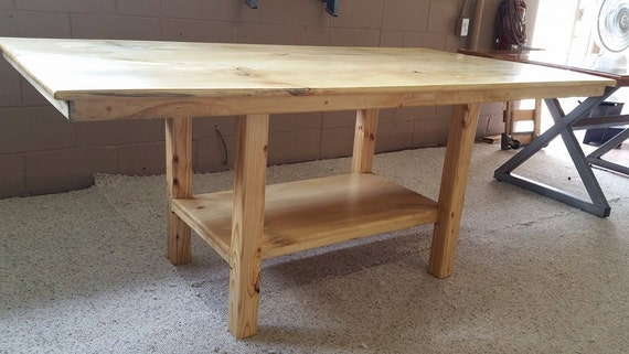Beautiful Items Similar To Southern Magnolia Wood Table With Shelf Base On Etsy