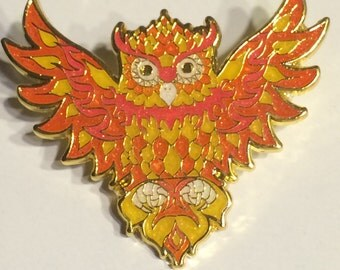Fire owl Pin LE50