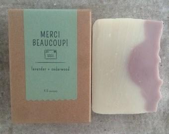 Merci Beaucoup! | Lavender & Cedarwood Soap | All Natural Soap