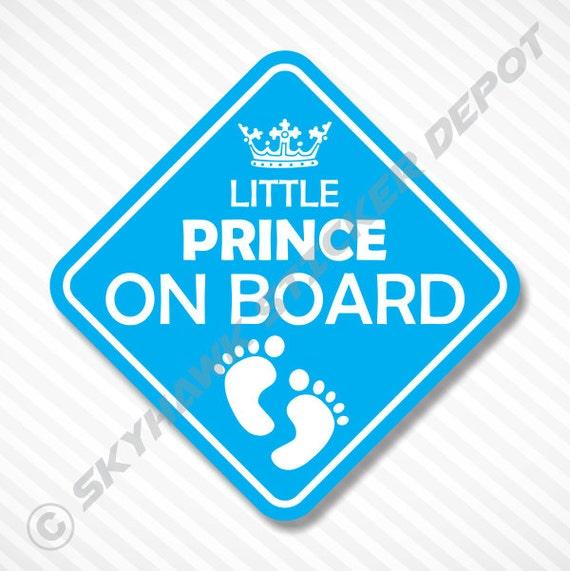 Little Prince On Board Bumper Sticker Vinyl by