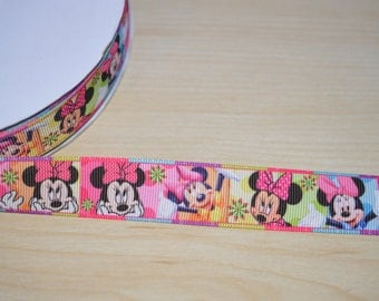 Minnie Mouse Grosgrain Ribbon, Ribbon 7/8 Wide, Ribbon by the Yard
