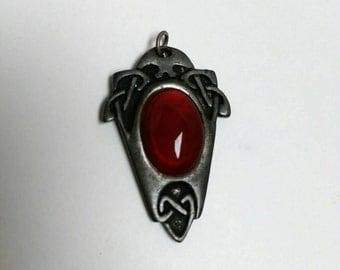 Vintage Justin Pewter pendant