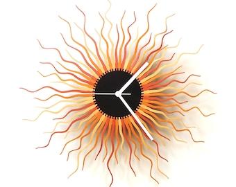 Horloge murale grande - Méduse cuivre L / XL / XXL - découpé au laser organique horloge en bois