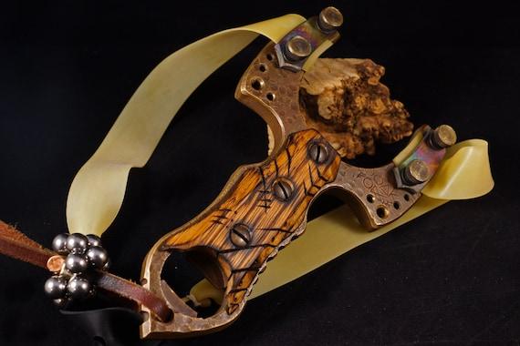 CUSTOM OOAK Forge Brass Frame Slingshot (Made To Order)