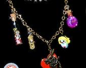 Alice in Wonderland necklace Charm Miniatures